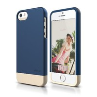 iPhone SE Case, elago Glide Case Limited-Edition for iPhone SE/5/5S - eco friendly Retail Packaging (Jean Indigo / Champagne Gold)
