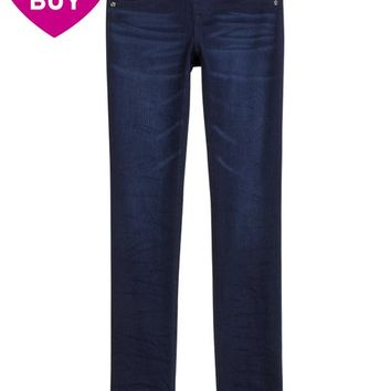 KNIT DENIM SUPER SKINNY JEANS | GIRLS JEGGINGS JEANS | SHOP JUSTICE