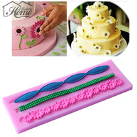 Chrysanthemum Flowers Ribbon Decorate Cake Mold For Jelly,Candy Ice Decorating Bakeware Pastry Tools DIY molde de silicone