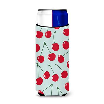 Cherries on Blue Michelob Ultra Hugger for slim cans BB5148MUK