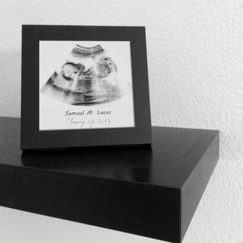 ultrasound frame 5x5 sonogram design print and frame
