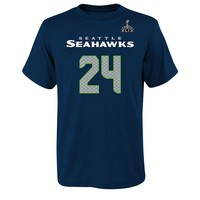Seattle Seahawks Marshawn Lynch Super Bowl XLIX Name and Number Tee - Boys 8-20