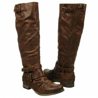 Women's CARLOS BY CARLOS SANTANA Hanna Wide Calf Riding Boot Cognac CarlosShoes.com