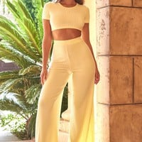 Bottom Line High Waisted Wide Leg Trousers