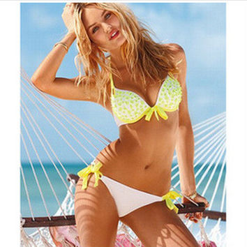 Beach New Arrival Summer Swimsuit Hot Sexy Swimwear Water Droplets Bikini [6047444865]