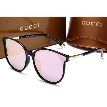GUCCI Fashionable Ladies Retro Summer Shades Eyeglasses Glasses Sunglasses Pink I