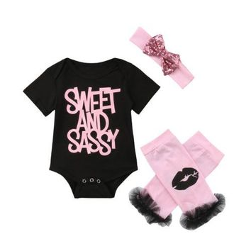Sweet and Sassy Romper with Leg Warmers & Headband