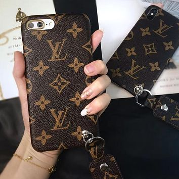 Louis Vuitton LV Stylish iPhone Phone Cover Case For iphone 6 6s 6plus 6s-plus 7 7plus 8 8plus X I12268-1