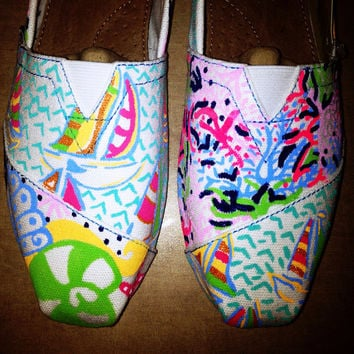 Lilly Pulitzer Painted Toms