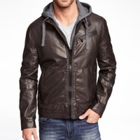 (MINUS THE) LEATHER HOODED SYSTEM JACKET