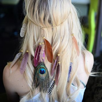 Boho Boutique Feather Headband