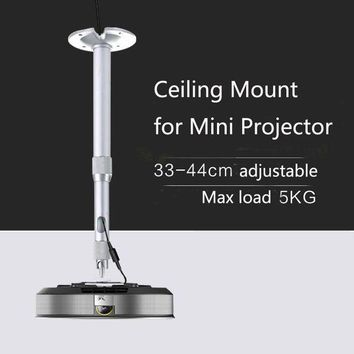 ac NOOW2 Aluminum Alloy Mini LED DLP Projector Ceiling Mount Bracket 33cm to 44cm adjustable Universal Screw 6mm type Flex Two Section