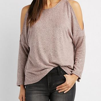 Brushed Cold Shoulder Top
