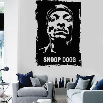 Wall Stickers Vinyl Decal Snoop Dogg Rap Music Youth Subculture Unique Gift ig1682