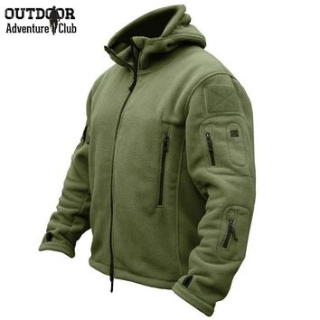 Winter Military Tactical Fleece Jacket Men US Army Polartec Sportswear Clothes Warm Pockets Outerwear Casual Hoodie Coat Jacket