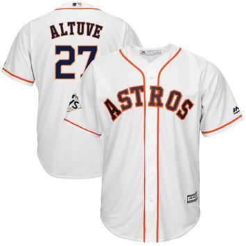 Men's Houston Astros Jose Altuve Majestic White 2017 World Series Bound Cool Base Player Jersey