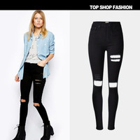 Fashion Slim High Waisted Jeans Jeans Denims Trousers Pants _ 1087