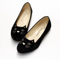 Women's Black Cat Loafers