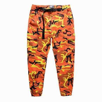 SUPER FASHION CHIC FNTY COLORFUL CAMO JOGGER PANTS N T-SHIRT HIPHOP DANCER OUTFIT MEN or WOMEN US SIZE LOOSE OVERSIZE FITTING