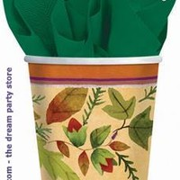 Thanksgiving Medley 9 oz. Paper Cups for Thanksgiving Day