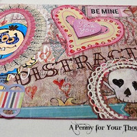 Distracted Handmade Valentine. Just Listed and Ready to Ship.