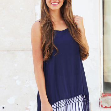 Going Out {Navy tunic}