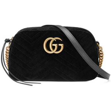 Gucci GG Marmont velvet small shoulder bag