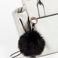 Free People Faux Fur Pompom Bag Charm
