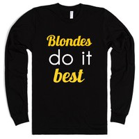 Blondes-Unisex Black T-Shirt