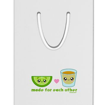 Cute Tequila Shot and Lime - Made For Each Other Aluminum Paper Clip Bookmark by TooLoud