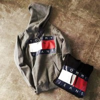 Tommy Hilfiger Casual Fashion Hooded Top Pullover Sweater Sweatshirt Hoodie Day-First™
