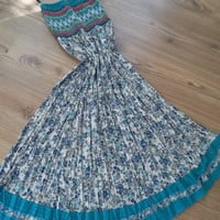 Handmade Blue  - Dress - Maxi Skirt - Dress