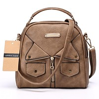 Annmouler Brand Women Messenger Bag Female Double Zipper Handbag Pu Leather Fashion Ladies Shoulder Bag Women Crossbody Bag