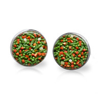 Peas and Carrots Earrings Funny Food Jewelry Food Earrings Peas Earrings Peas Jewelry Carrot Jewelry Veggie Jewelry Vegetable Earrings Gift