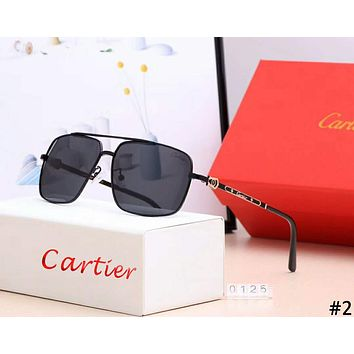 Cartier tide brand men and women driving polarized large frame retro sunglasses #2