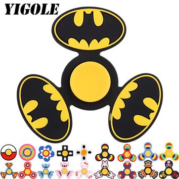 YIGOLE Tri-Spinner Fidget Top Toys EDC Handspinner Batman Figet Spiner Anti Stress Reliever And ADAD Finger Hand Spinners