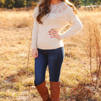 Leave Me Breathless Sweater: Ivory