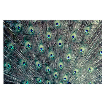"Ann Barnes ""Majestic"" Peacock Feather Decorative Door Mat"