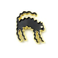 Wavy Cat Lapel Pin (Limited Edition)