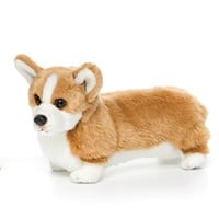 Lifelike Welsh Corgi Stuffed Animal by Nat and Jules