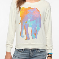 Truly Madly Deeply Psychedelic Elephant Long-Sleeved Tee