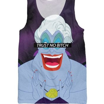RuiYi Little Mermaid the cruelest bitch Trust No Bitch Ursula Tank Top Women's Basketballl Vest bodybuilding Summer Style Men