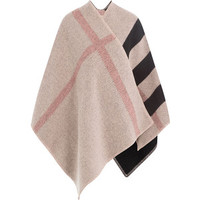 Burberry Shoes & Accessories Checked Wool Cape