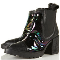 **Padded Toe Cap Boots by Unique- Shoes #Opal Sheen