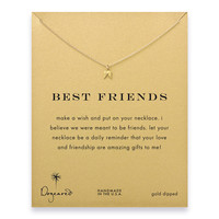 best friends teeny angel wings necklace, gold dipped - Dogeared