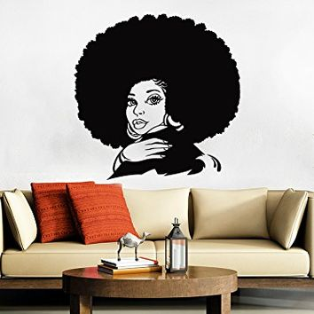 African Woman Wall Decal Tribal African Girl Vinyl Sticker Decals Home Bedroom Art Design Interior Beauty Salon Decor NS1037