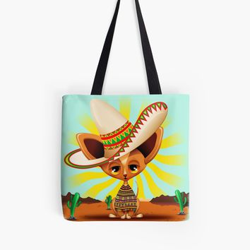 'Chihuahua Tiny Lazy Puppy Mexican Dog' Tote Bag by BluedarkArt