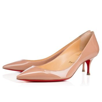 Best Online Sale Christian Louboutin Cl Pigalle Follies Nude Patent Leather 55mm Stiletto Heel 16s