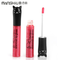 1Pcs Hot Brand Makeup MANSHILI Cat Series 12 Colors Long-lasting Lip Gloss Waterproof Lipgloss Moisture Lips 9g #M218