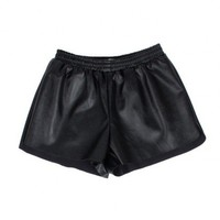 insane jungle VEGAN LEATHER SHORTS - WOMEN'S